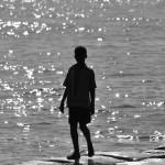 Fotografia, diseño, arte decoración, cuadros, Cesar Uribe, playa, pescador, niño, mar, Galeria Moa,