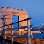 galeria moa, arte, fotografia, cuadros, diseño, decoración, Heinz Dienes, bahía, mar, puerto, muelle, puerta, Tromsø Bay, Tromso Bay