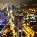 Bogota, nocturna, Noche, Cesar Uribe, Fotografia, Galeria Moa, plaza de toros, diseño, decoración, Arte, ciudad, panoramica