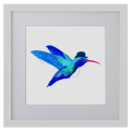 Ilustración, colibrí, Galeria MOA, arte, decoración, cuadro, pájaro, animales, MOA Prints,