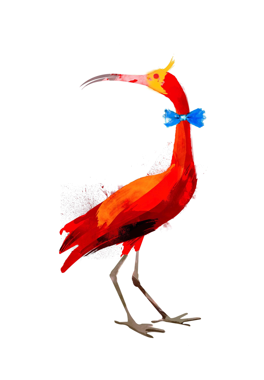 Ilustración, garza, Galeria MOA, arte, decoración, cuadro, pájaro, animales, MOA Prints,