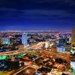 Ciudad, nocturna, Miami, Brickell, vidrio, edificios, Galeria MOA, Alvaro Ramirez, fotografía, decoración, diseño