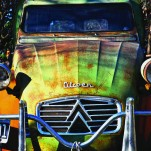 Carro, Citroen, clásico, óxido, Galeria MOA, Alvaro Ramirez, fotografía, decoración, diseño