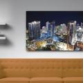 Ciudad, nocturna, Miami, vidrio, edificios, Galeria MOA, Alvaro Ramirez, fotografía, decoración, diseño, ambiente