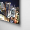Ciudad, nocturna, Miami, vidrio, edificios, Galeria MOA, Alvaro Ramirez, fotografía, decoración, diseño, dibond, aluminio, retablo flotado