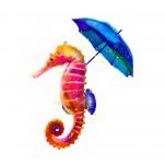 Ilustración, caballito, Galeria MOA, arte, decoración, cuadro, mar, animales, MOA Prints,