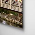 Luces, noche, agua, reflejos, Natalia Pfeifer, Galeria MOA, fotografía, arte, decoración, Japon, dibond, retablo flotado, aluminio