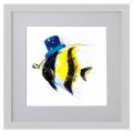 Ilustración, pez, Galeria MOA, arte, decoración, cuadro, mar, animales, MOA Prints, marco blanco