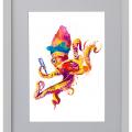 Pulpo, mar, Madonna, Galeria MOA, Ilustracion, arte, decoración, marco, blanco
