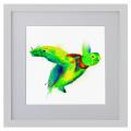 Ilustración, tortuga, Galeria MOA, arte, decoración, cuadro, mar, animales, MOA Prints, marco blanco